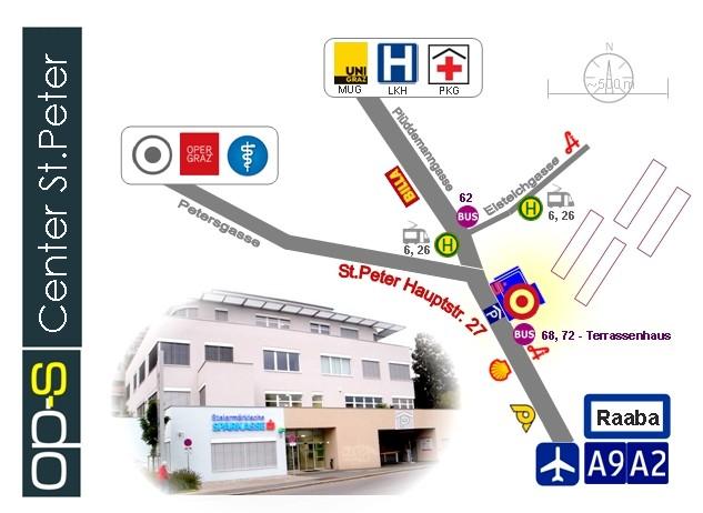 Beschreibung Anfahrt zum op-s Center Graz